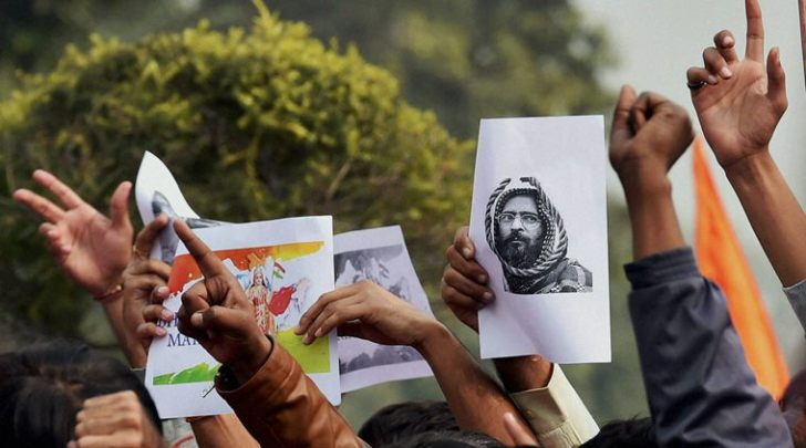Source: http://indianexpress.com/article/india/india-news-india/afzal-guru-film-screening-jnu-student-leader-held-for-sedition/