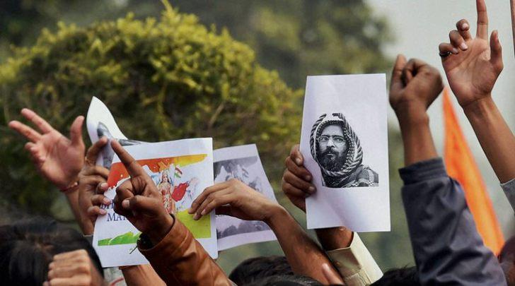 Source: http://indianexpress.com/article/india/india-news-india/afzal-guru-film-screening-jnu-student-leader-held-for-sedition/